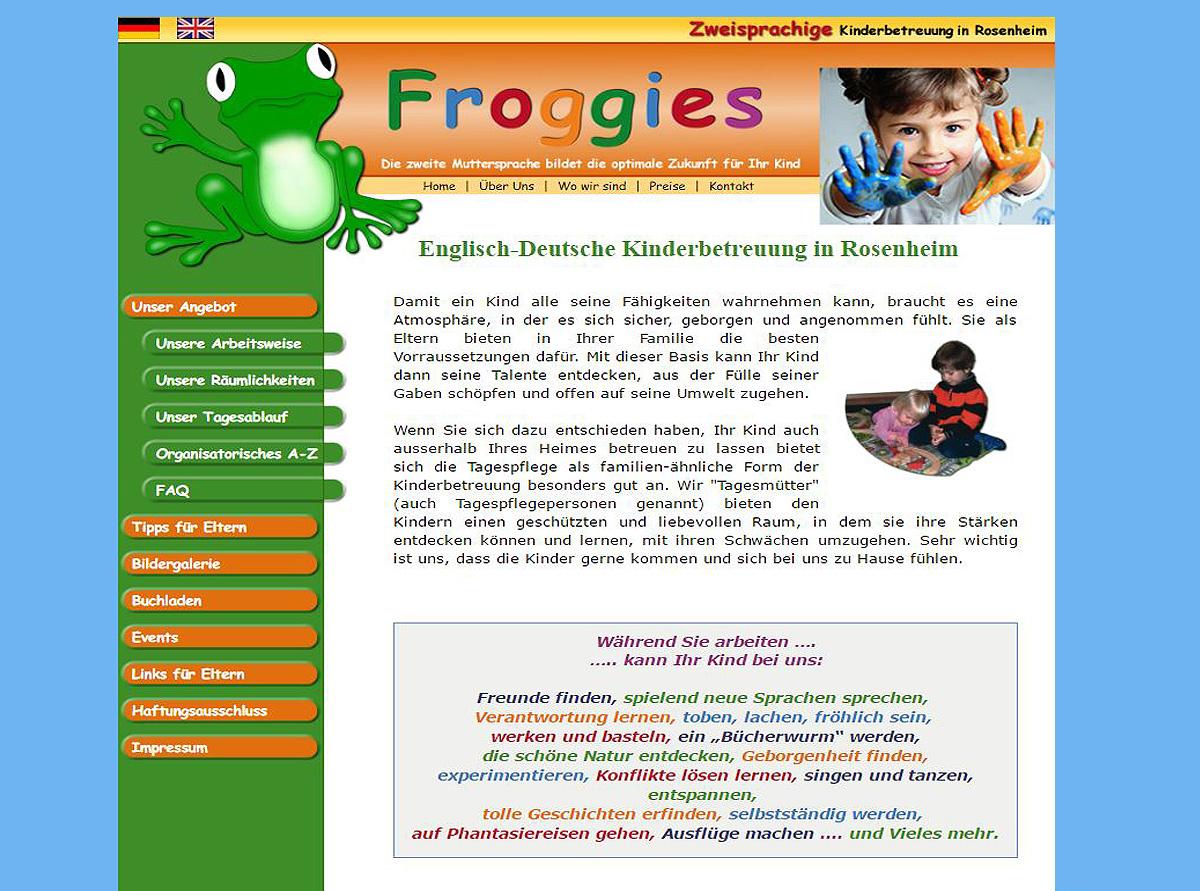 Froggies - Die Rosenheim Frogs - Zweisprachige Kinderbetreuung