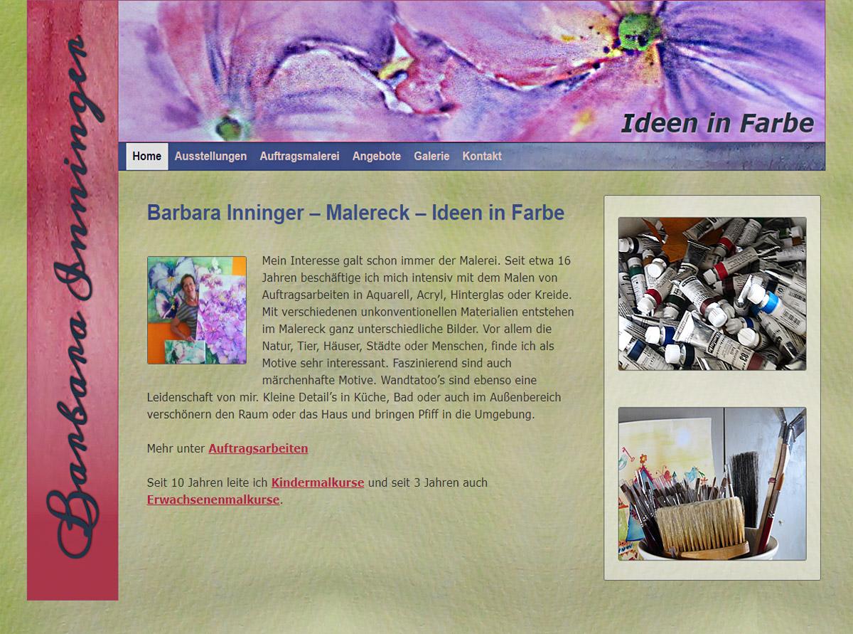 Referenz Website - Malereck Barbara Inninger