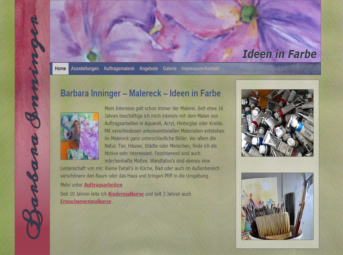 Referenz Website - Malereck Barbara Inninger