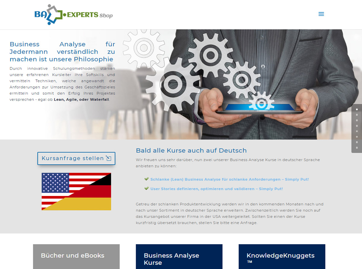 Referenz Website - Business Analysis Experts Deutschland