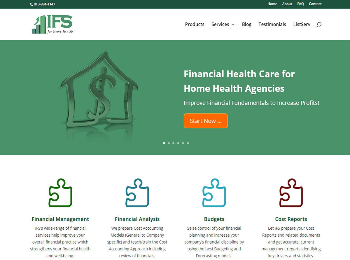 Referenz Website - Innovative Financial Solutions For Home Health