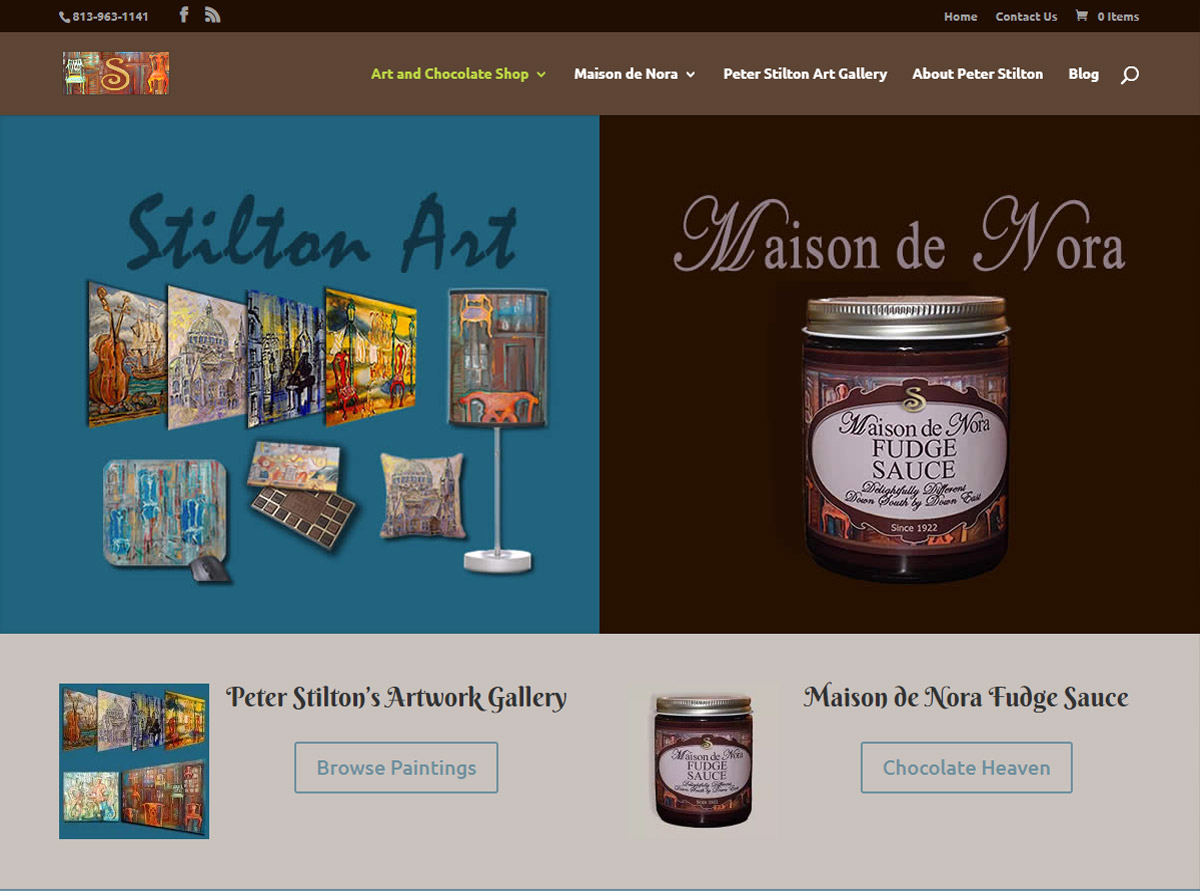 Referenz Website - Stilton Art and Chocolate