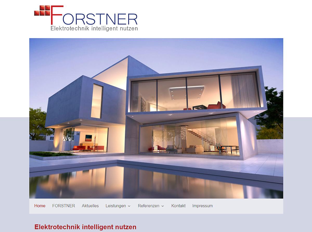 Referenz Webesite - Elektrotechnik Forstner GmbH & Co KG