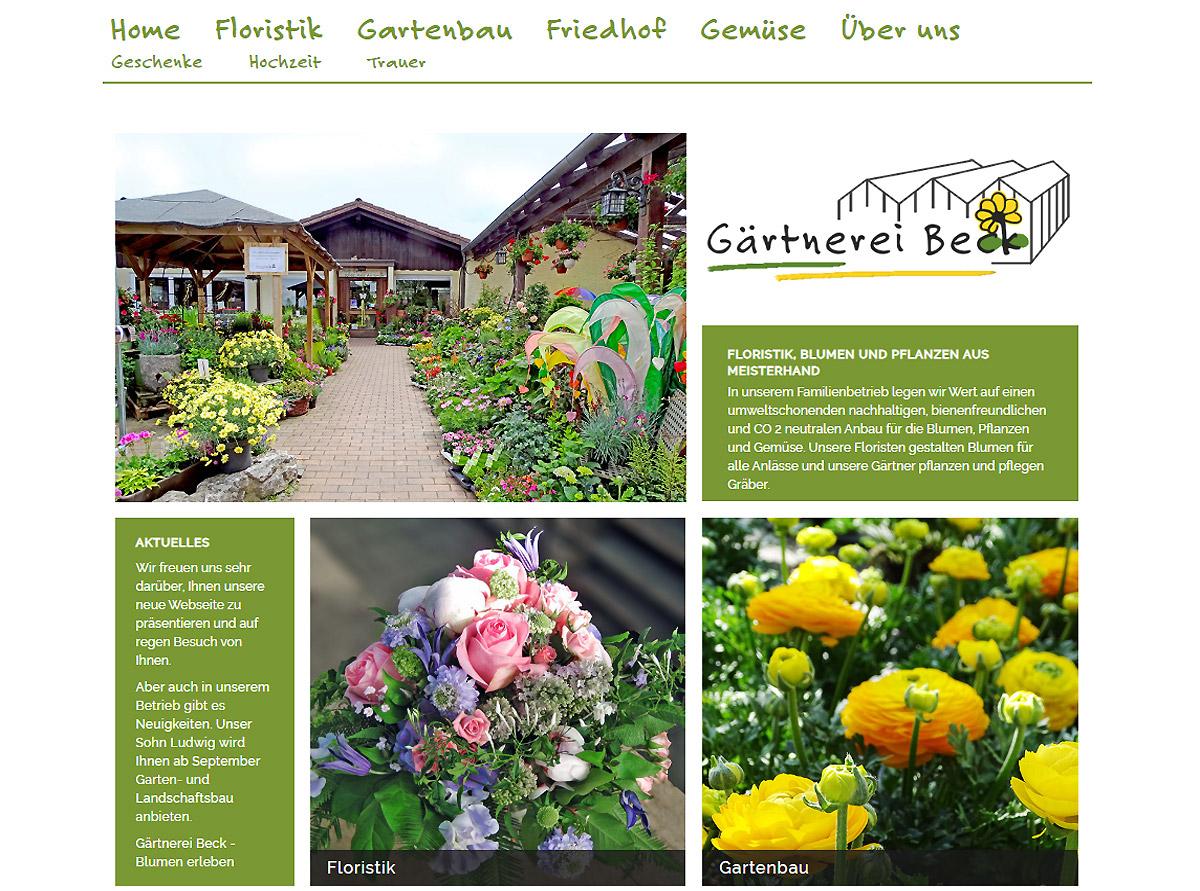 Gärtnerei Beck in Taufkirchen bei München - Blumen erleben