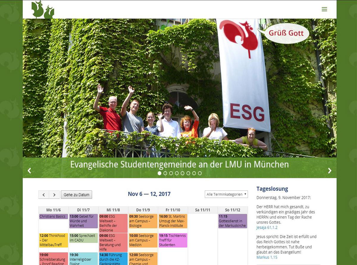 Website Referenzen - Evangelische Studentengemeinde an der LMU in München