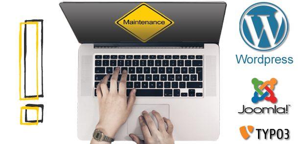 Website Maintenance – WordPress, Joomla, Typo3