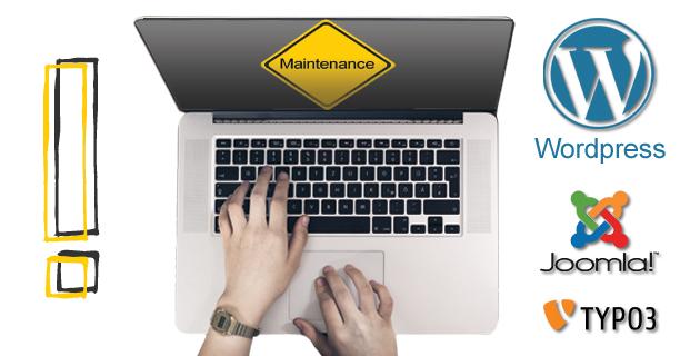 Wordpress, Joomla und Typo3 Maintenance